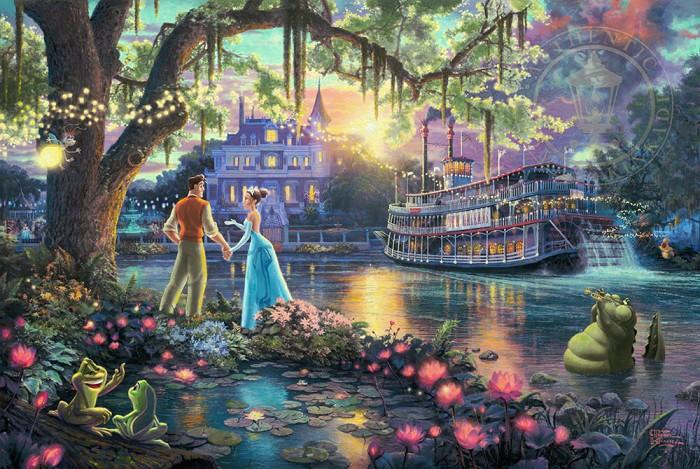 Thomas Kinkade DisneyThe Princess and the FrogGiclee On Canvas Artist Proof