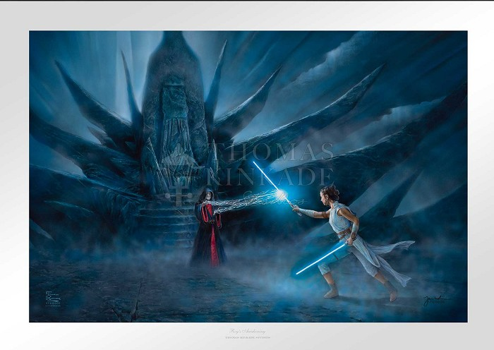 Thomas KinkadeRey's Awakening From Star WarsGiclee On Canvas Artist Proof
