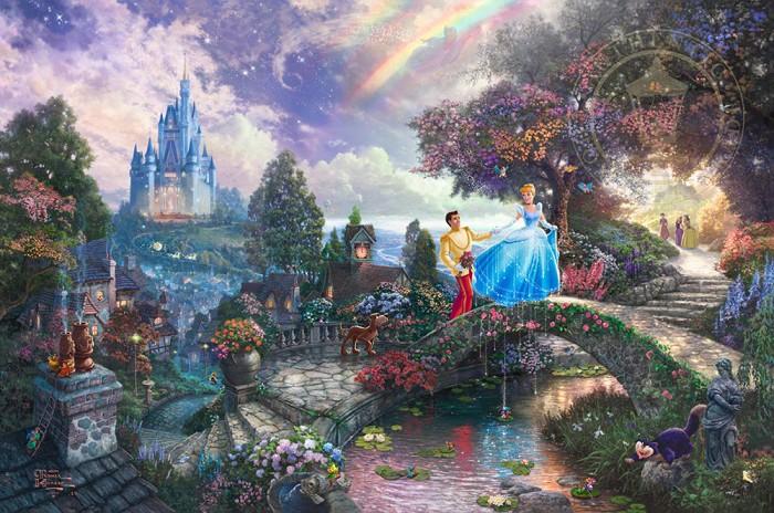 Thomas Kinkade DisneyCinderella Wishes Upon a DreamGiclee On Paper