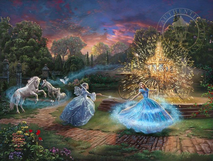 Thomas Kinkade Disney Wishes Granted Giclee On Paper