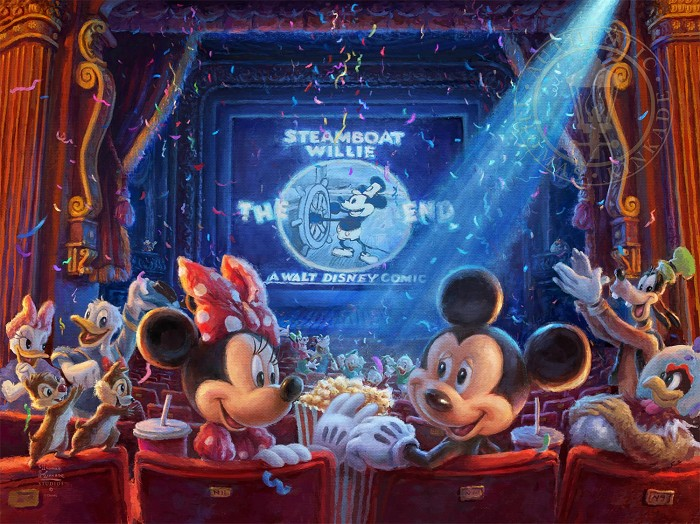 Thomas Kinkade Disney 90 Years of Mickey Giclee On Paper