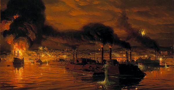Tom LovellUnion Fleet Passing Vicksburg Limited Edition Print