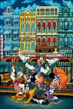 Tim Rogerson The Magic of Main Street Giclee On Canvas