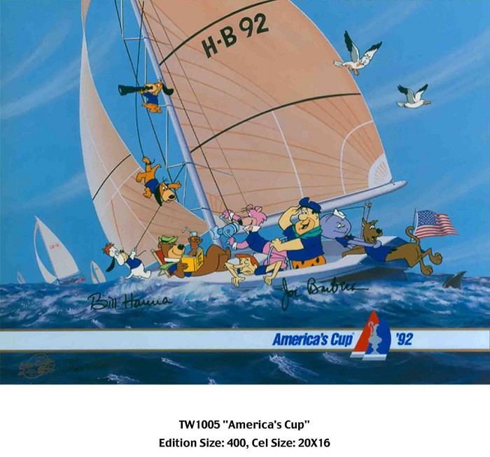 Hanna & Barbera American's Cup Hand-Painted Limited Edition Cel