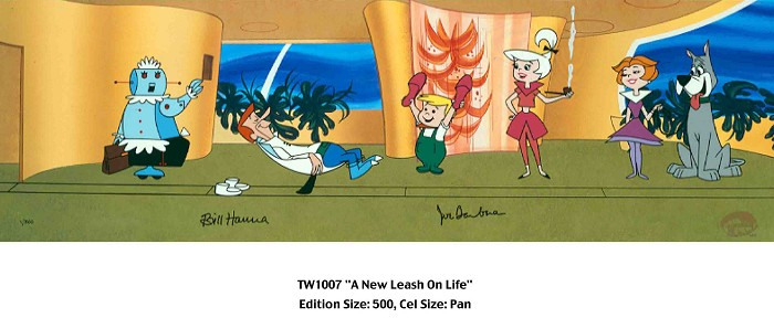 Hanna & Barbera A New Leash on Life Hand-Painted Limited Edition Cel