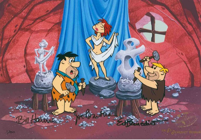 Hanna & Barbera Art Class From The Flinstones Hand-Painted Limited Edition Cel