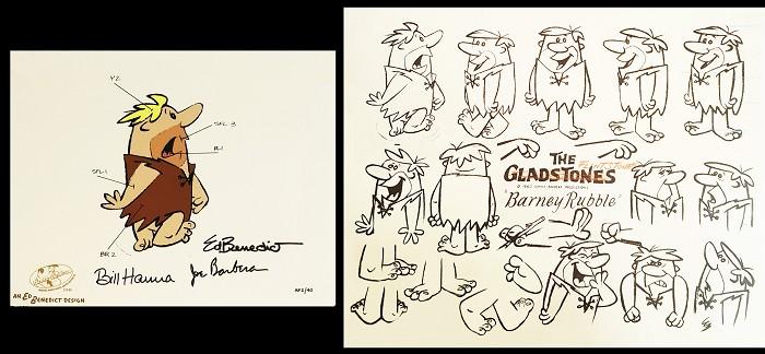 Hanna & BarberaBarney Model Sheet & Color Model CelHand-Painted Limited Edition Cel
