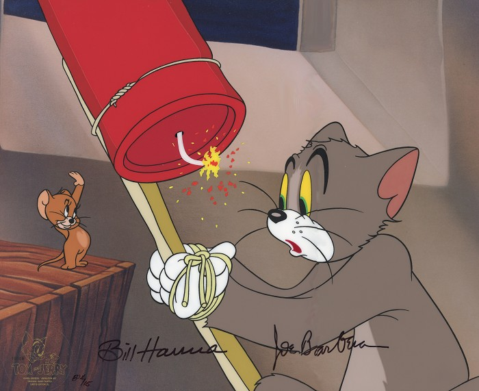 Hanna & Barbera The Yankee Doodle Mouse From Tom And Jerry Hand-Painted Limited Edition Cel