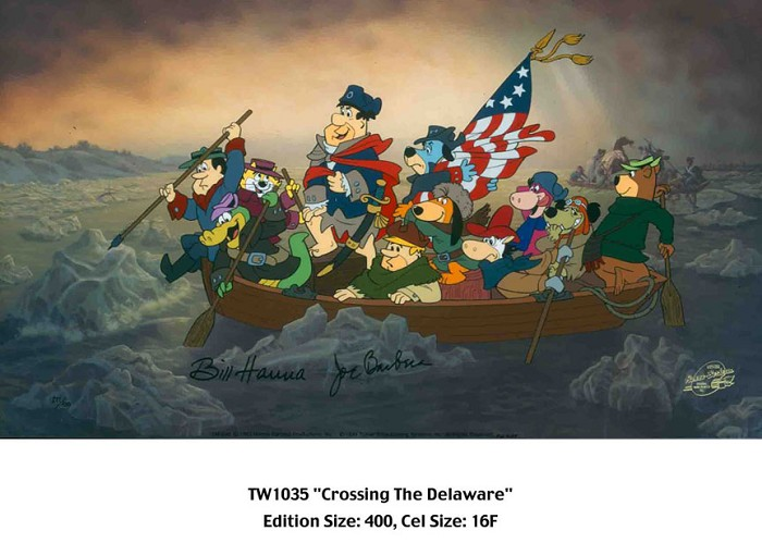 Hanna & Barbera Crossing the Delaware Hand-Painted Limited Edition Cel