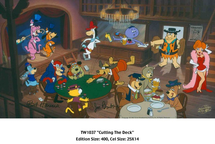 Hanna & Barbera Cutting the Deck Hand-Painted Limited Edition Cel