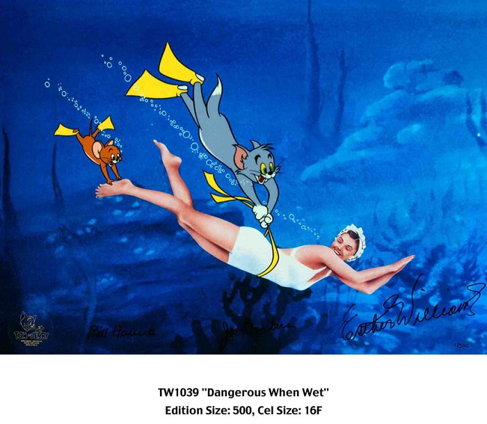 Hanna & BarberaDangerous When WetHand-Painted Limited Edition Cel