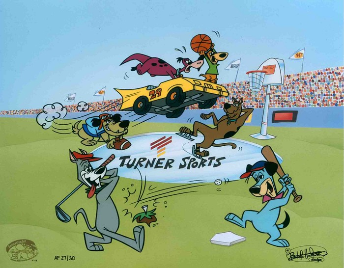 Hanna & BarberaDoggone Dog FightHand-Painted Limited Edition Cel