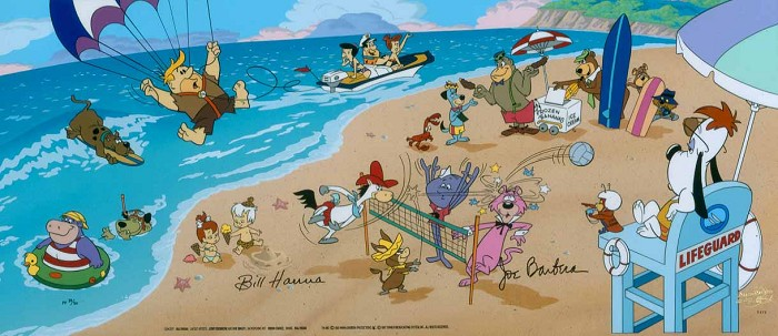 Hanna & Barbera Endless Sumer Artist Proof Hand-Painted Limited Edition Cel