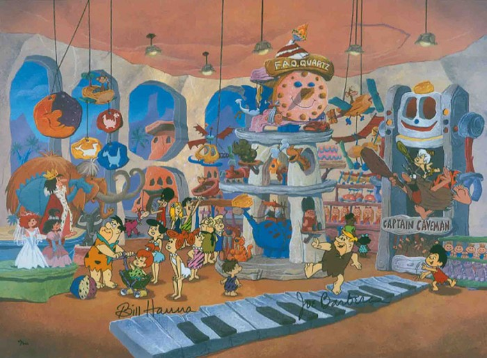 Hanna & Barbera FAO Quartz From The Flinstones Hand-Painted Limited Edition Cel