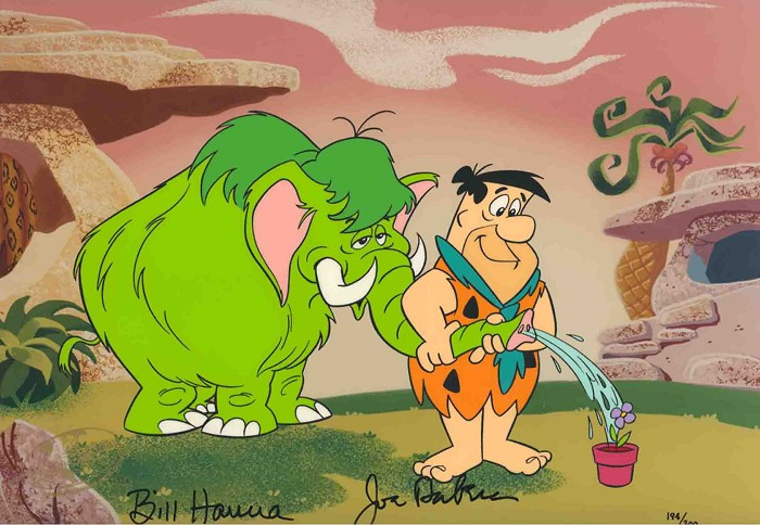 Hanna & Barbera Flintstones Fleur From The Flinstones Hand-Painted Limited Edition Cel