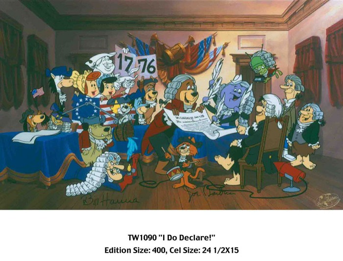 Hanna & Barbera I Do Declare Hand-Painted Limited Edition Cel
