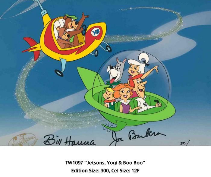 Hanna & Barbera Jetsons, Yogi and Boo Boo Hand-Painted Limited Edition Cel