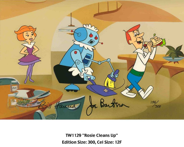 Hanna & BarberaRosie Cleans UpHand-Painted Limited Edition Cel
