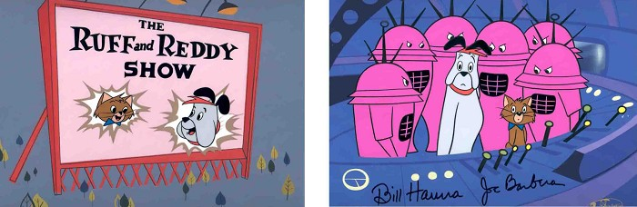 Hanna & BarberaRuff and ReddyHand-Painted Limited Edition Cel