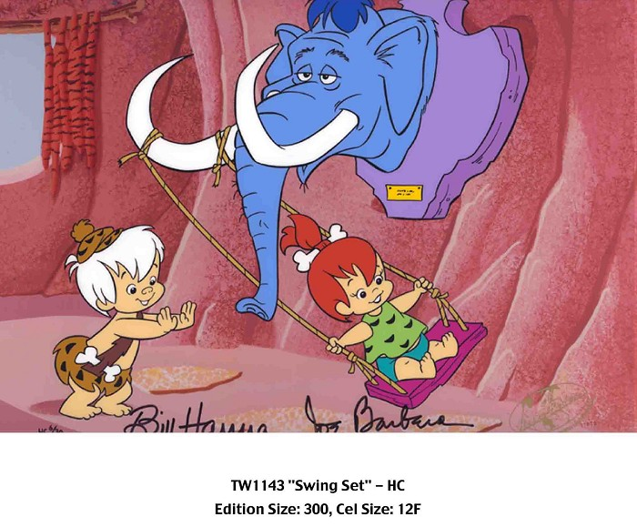Hanna & BarberaSwingset From The FlinstonesHand-Painted Limited Edition Cel