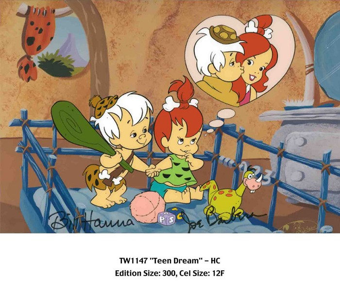 Hanna & Barbera Teen Dream From The Flinstones Hand-Painted Limited Edition Cel