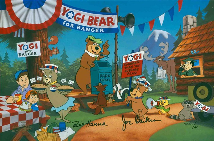 Hanna & Barbera Yogi For Ranger From Yogi Bear Hand-Painted Limited Edition Cel