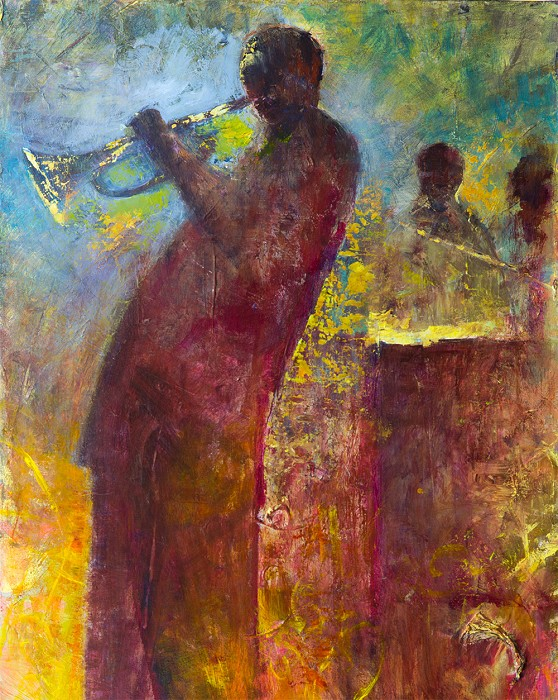 (Twin) Jerry Lynn and Terry Lynn Bluesman Giclee On Canvas