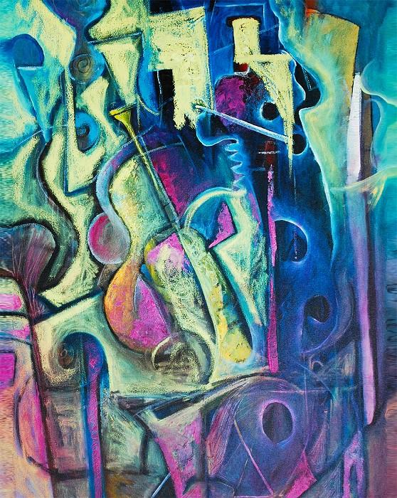 (Twin) Jerry Lynn and Terry LynnFunky RhythmGiclee On Canvas