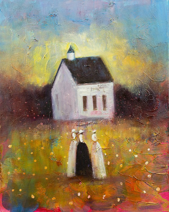 (Twin) Jerry Lynn and Terry Lynn Sisters Field Giclee On Canvas