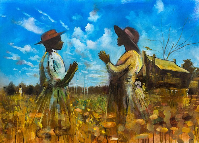 (Twin) Jerry Lynn and Terry Lynn Sisters Giclee On Canvas