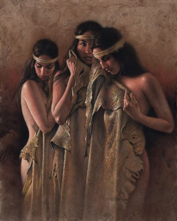 Lee Bogle The Bathers Artist Proof Hand Enhanced Giclee On Canvas