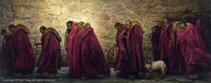 Cao Yong The Wall Artist Proof Giclee On Canvas Artist Proof The Tibet Series