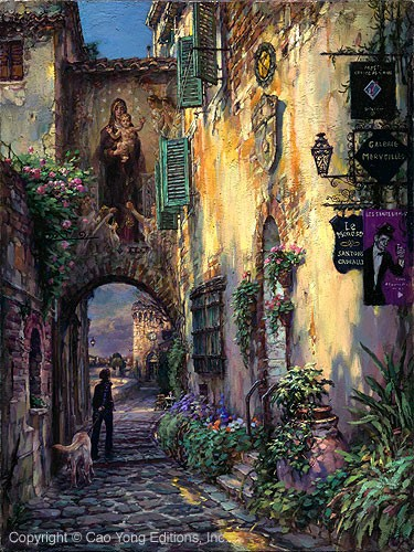 Cao Yong Toward Serenity Artist Proof Giclee On Canvas Artist Proof The Mediterranean Series