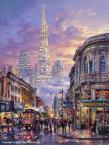 Cao Yong Transamerica Pyramid Giclee On Canvas The Golden Coast Series