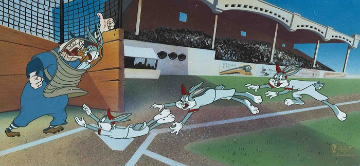 Virgil Ross Yer Out! Hand-Painted Limited Edition Cel