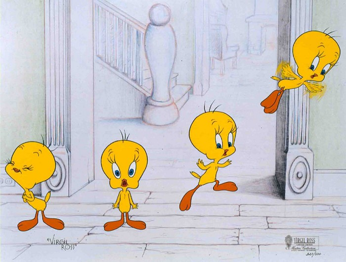 Virgil Ross Tweety's Great Escape Hand-Painted Limited Edition Cel