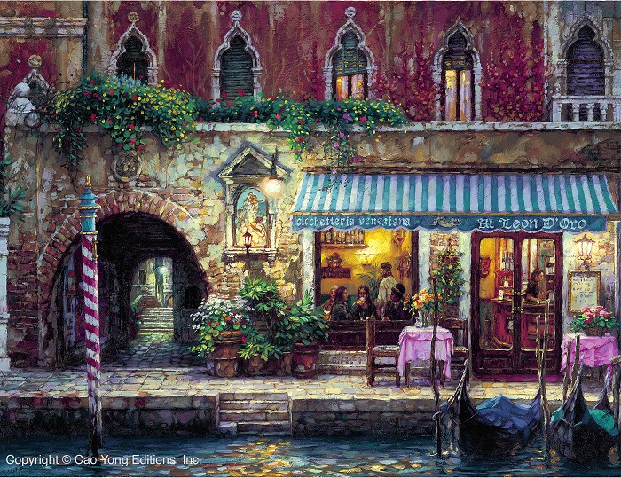 Cao Yong Venice's Nights Giclee On Canvas The Venice Series