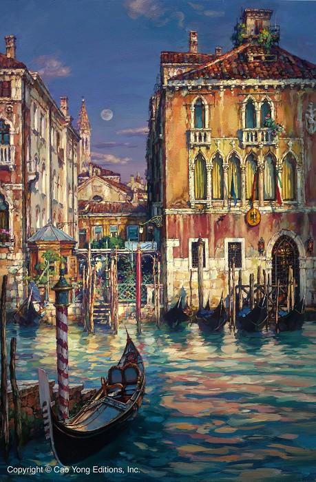 Cao YongVenetian SunsetGiclee On Canvas The Venice Series