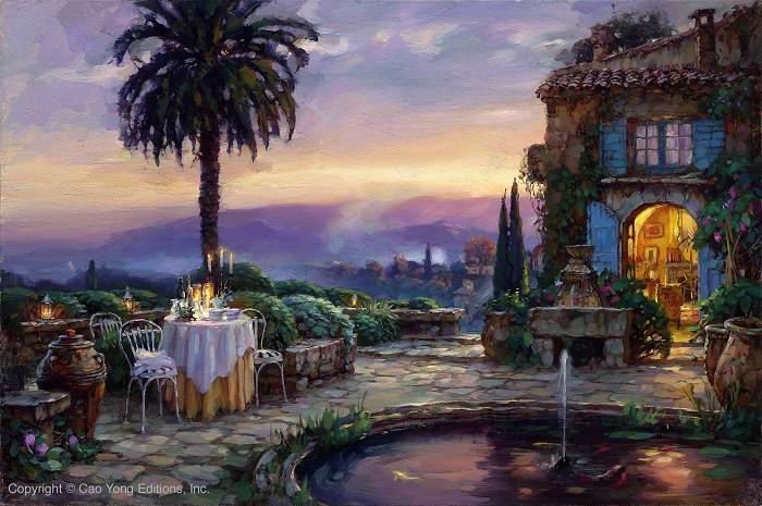Cao YongVilla EncantadaGiclee On Canvas The Mediterranean Series