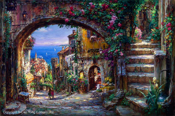 Cao YongThe Vision BeyondGiclee On Canvas The Mediterranean Series