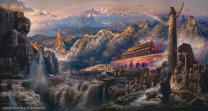 Cao YongVoice Of The EastGiclee On Canvas The Eastern Series
