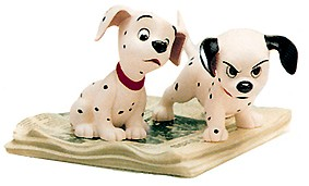 WDCC Disney Classics 101 Dalmatian Two Puppies On Newspaper