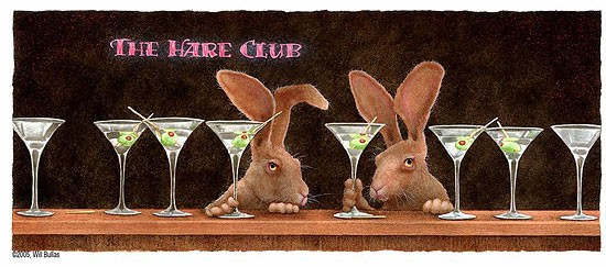Will Bullas The Hare Club... Limited Edition Canvas