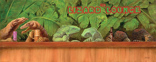 Will BullasThe Lizard Lounge Limited Edition Canvas