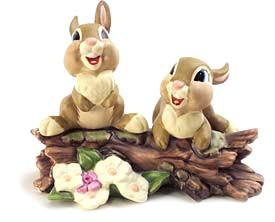 WDCC Disney ClassicsBambi Thumper's Sisters Hello, Hello There