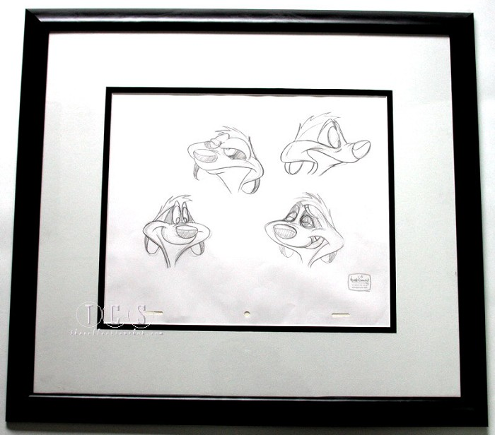 WDCC Disney Classics The Lion King Timon Original Production Drawing