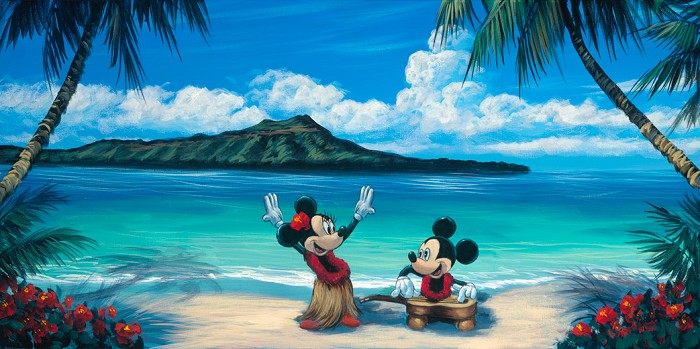 Walfrido Garcia Hawaiian Vacation Hand-Embellished Giclee on Canvas