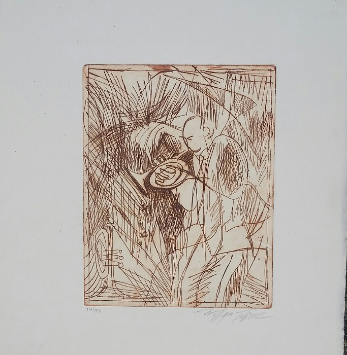 William Tolliver Etching #14 Artist Signed