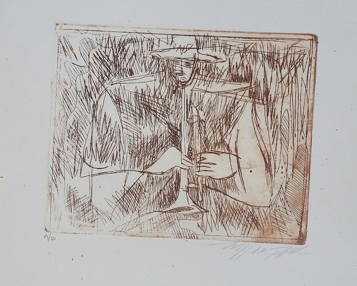 William Tolliver Etching Artist Proof Artist Signed