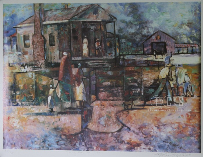 William Tolliver Going Home For A Visit Artist Signed Lithograph